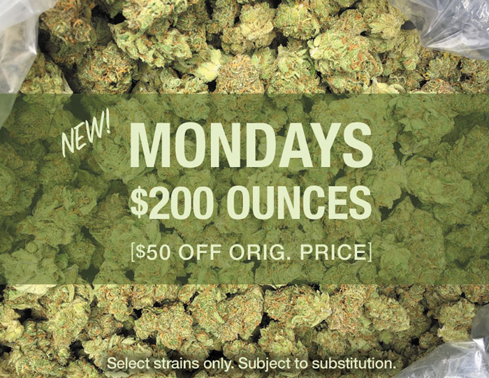 $200 Ounce Specials on Monday