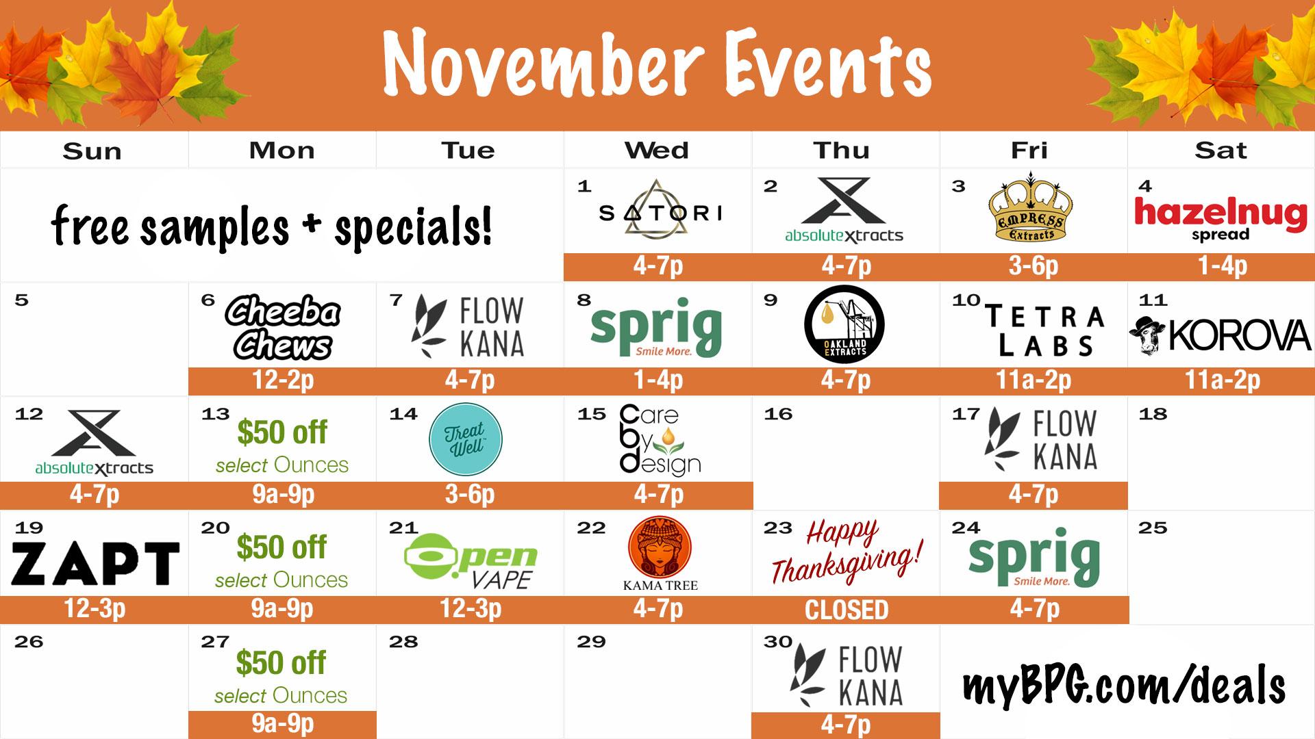 November Events at BPG